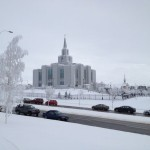 The new Calgary Alberta Temple of the Church of Jesus Christ of Latter-day Saints