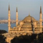 The Sultanahmet or Blue Mosque in Istanbul