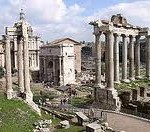 The ruins of the ancient Roman Forum