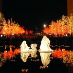 A nativity scene at Temple Square in Salt Lake City