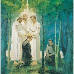 Peter, James, and John confer the priesthood of Melchizedek upon Joseph Smith and Oliver Cowdery
