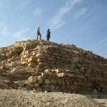 The top of what remains of the Seila Pyramid, which was largely buried by drifting sand