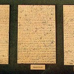 Three pages from the Printer's Manuscript of the Book of Mormon