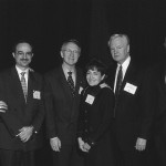 Once again, a photograph from a dinner in Washington DC honoring the Middle Eastern Texts Initiative (METI), back somewhere in the late 1990s or early 2000s.  From the left:  Elder Neal A. Maxwell, Ambassador Marwan Muasher of Jordan, Senator and Mrs. Harry Reid (D-NV), President Merrill J. Bateman of BYU, and the guy who may or may not, some years earlier, have forgotten to bless the food at another dinner