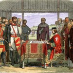 King John and the barons at Runnymede in AD 1215