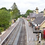 A rural railway station in England
