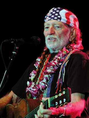 A photo of the older Willie Nelson