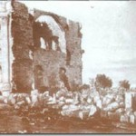 The Nauvoo Temple after the anti-Mormon mobs were finished with it in the 1840s