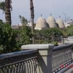 The three domes of the Church of St. Mary the Virgin in Ma'adi, Egypt, south of Cairo
