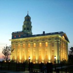 The reconstructed temple at Nauvoo, Illinois (click to enlarge image)