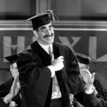 "Groucho Marx as Professor Quincy Adams Wagstaff in ""Horse Feathers"" (1982)"