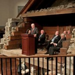 Elder M. Russell Ballard of the Council of the Twelve Apostles, speaking from exactly the same place where I had spoken somewhat earlier as part of the same fifty-year-anniversary celebration