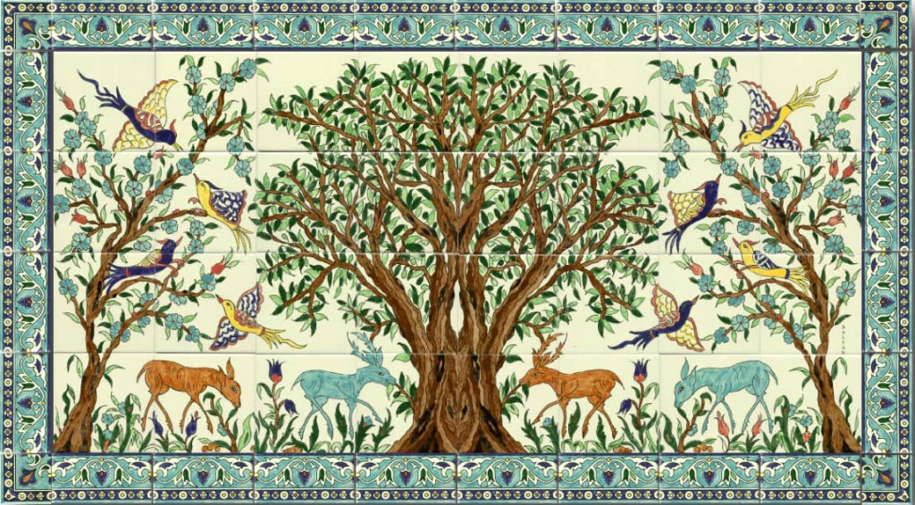 Olive tree with animals