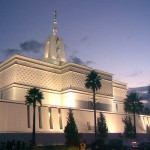 "The México City México Temple of The Church of Jesus Christ of Latter-day Saints, one of the few places on earth where, Mormons believe, families can be ""sealed"" together for eternity (Click to enlarge)"