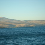 The Sea of Galilee (Kinnereth) is quite tangibly real. I've been there, many times. (Click to enlarge.  Click again to enlarge further.)