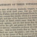 With Oliver Cowdery and David Whitmer, Martin Harris was one of the Three Witnesses to the Book of Mormon.