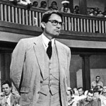 Atticus Finch, played here by the immortal Gregory Peck, has been voted the greatest hero in the history of Hollywood.