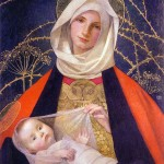 Madonna and Child, by Marianne Stokes (Click to enlarge.  Click again to enlarge further.)