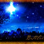 In the night sky above Bethlehem (Click to enlarge.  Click again to enlarge further.)