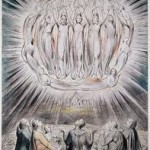The angels appearing to the Shepherds, as visualized by William Blake
