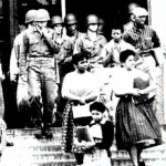 Deployed by President Dwight D. Eisenhower (a Republican, by the way), members of the 101st Airborne escort black students to a previously-segregated high school in Little Rock, Arkansas, in 1957