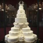 The Burj al-'Arab skyscraper in the Persian Gulf -- or else, maybe, William and Catherine's wedding cake