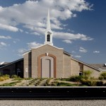 A fairly typical local Latter-day Saint meetinghouse (Click to enlarge.)