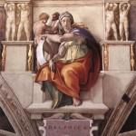 "Michelangelo's ""Delphic Sibyl,"" from the Sistine Chapel"