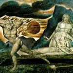 """""""Cain and Abel,"""" by William Blake (Click to enlarge.  Click again to enlarge further.)"""