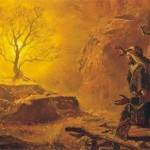 """""""Moses and the Burning Bush"""" (Arnold Friberg, 1954) Moses probably never owned a Bible."""