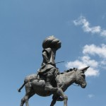 """A statue of Nasreddin Hoca in Aksehir, Turkey, the city of his birth (Sorry.  Can't find a way to do a cedilla beneath the """"s"""" in """"Aksehir."""") (Click to enlarge.)"""