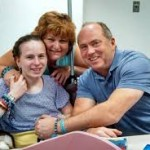 Justina and her parents