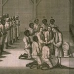 Slaves being baptized in a Moravian congregation (1757)