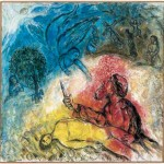 """The """"akedah"""" or """"binding"""" of Isaac, as depicted by Marc Chagall"""