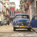 A street scene in one of the nicest and most modern sections of bustling, vibrant Havana
