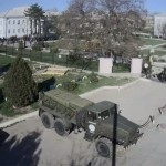 Russian troops seize a Ukrainian army base in the Crimea