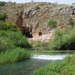 One of my very favorite places in Israel: Banias (named for the Greek god Pan) or, in the New Testament, Caesarea Philippi (Click to enlarge.  Click again to enlarge still further.)