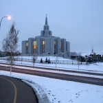 The Calgary Alberta Temple of The Church of Jesus Christ of Latter-day Saints (Click to enlarge.)