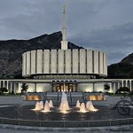 A 2013 photograph, by Jason Miller, of the Provo Utah Temple of The Church of Jesus Christ of Latter-day Saints (Click to enlarge.  Click again to enlarge further.)