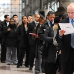 HOPE:  An unemployment line in New York City