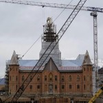 The Provo City Center Temple as it appeared yesterday (Click to enlarge.)