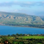 Toward the southern end of the Sea of Galilee