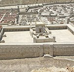 A modern model of the temple at Jerusalem in the time of Jesus