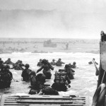 A scene from the landings on D-Day, 6 June 1944 (Click to enlarge.  Click again to enlarge further.)