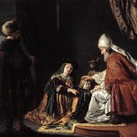 Hannah presents her son Samuel to Eli (Click to enlarge.)
