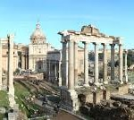 In the ruins of the Roman forum