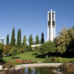 The carillon tower at BYU's Provo, Utah, campus (Click to enlarge.  Click again to enlarge further.)