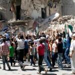 A scene in Aleppo, Syria