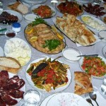 Buffet food set out for a Ramadan iftar