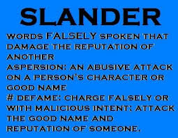 "a definition of ""slander"""